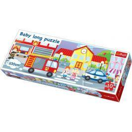TREFL Puzzle pro děti (oboustranné)  10 dílků - Město