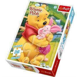 TREFL Dětské puzzle Gigant 36 dílků -  - Medvídek Pú