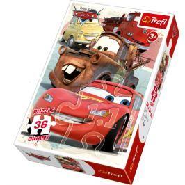 TREFL Dětské puzzle Gigant 36 dílků -  - Auta