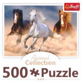 TREFL Puzzle  91476 Stádo divokých koní 500 dílků