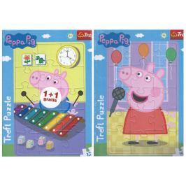 TREFL Puzzle Prasátko Peppa 2x15 dílků