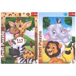 TREFL Puzzle Safari 2x15 dílků