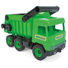 WADER Auto middle Truck sklápěč plast 36cm zelený v krabici