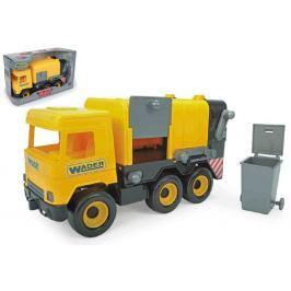 WADER Auto middle Truck popelář plast 42cm žlutý v krabici