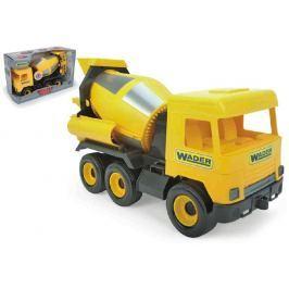 WADER Auto middle Truck domíchávač plast 40cm žlutý v krabici