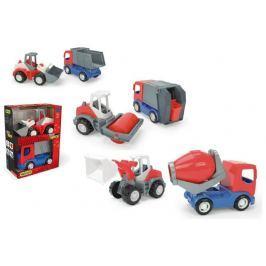 WADER Auto stavební Tech truck 2v1 plast 23cm v krabici 26x35x15cm