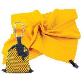 NEMO Rychleschnoucí ručník 40 x 40 cm, žlutý s karabinou
