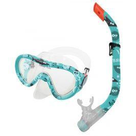 TAHITI JUNIOR-Sada brýle+šnorchl zelený vodní svět