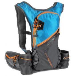 SPRINTER - Cyklistický a běžecký batoh 5l šedo/modrý, voděodolný