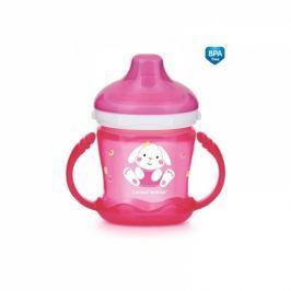 Canpol Babies Nevylévací hrníček Sweet Fun - Zajíček - růžový