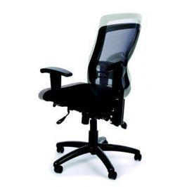 MAYAH Ergonomická kancelářská židle, síť.textilie, síť.opěrák, chromovaná základna,MaY