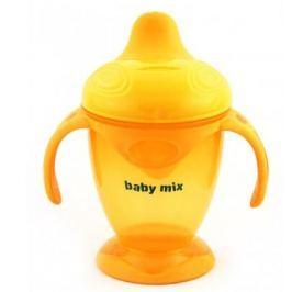 BABY MIX Nekapající hrneček 200 ml - oranžový