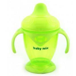 BABY MIX Nekapající hrneček 200 ml - zelený