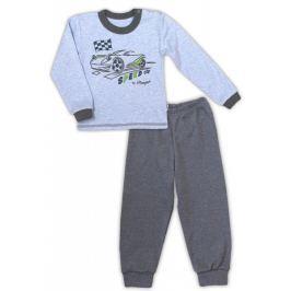 Nicol Bavlněné pyžamko  AUTO - melír sv. modrá/tm. šedá, 86 (12-18m)