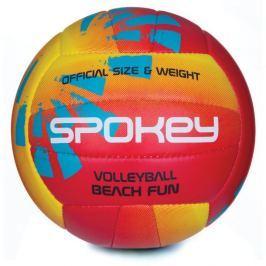 BEACH FUN Volejbalový míč červeno-žlutý č.5