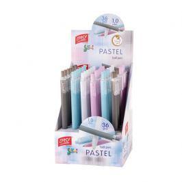 PASTEL - kuličkové pero pastelový mix barev 36 ks displ. Semi Gel