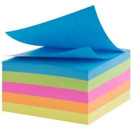 Samolepící bloček  mix barev neon  76x76mm, 450 listů