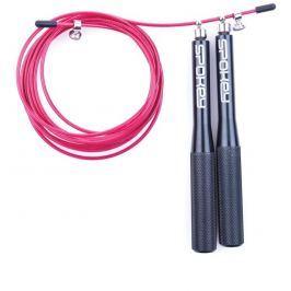 CROSSFIT TWEET II ložiskové švihadlo ocelová rukojeť černá+červené lanko