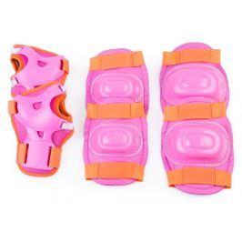 Spokey AEGIS - 3-dílná sada dětských chráničů, růžové, vel. M