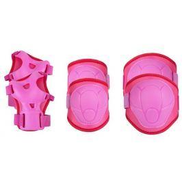 Spokey BUFFER - 3-dílná sada dětských chráničů, růžové, vel. XS