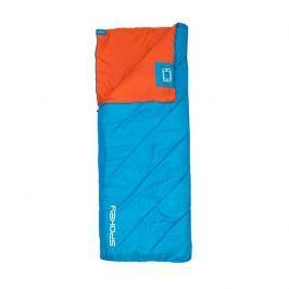 Spokey PACIFIC Spací pytel deka, pravé zapínání - modro-oranžový