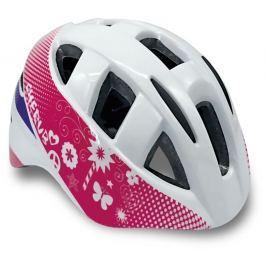 Spokey CHERUB Dětská cyklistická přilba IN-MOULD, 48-54, bílá