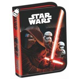 UNIPAP Penál Star Wars Episode7, 2 klopy, na zip, , červený