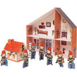 Skládací kartónová požární stanice