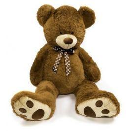 Teddies Medvěd s mašlí plyš 130cm tmavě hnědý v sáčku 0+