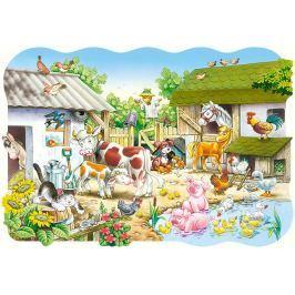 CASTORLAND Podlahové puzzle pro děti Farma 20 dílků
