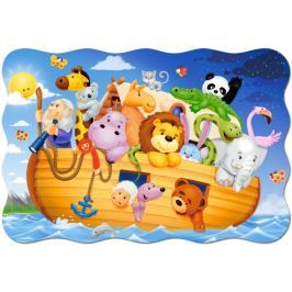CASTORLAND Podlahové puzzle pro děti Noemova archa 20 dílků