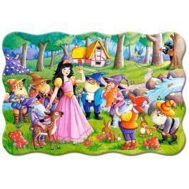 CASTORLAND Podlahové puzzle 02320 Sněhurka a sedm trpaslíků 20 dílků