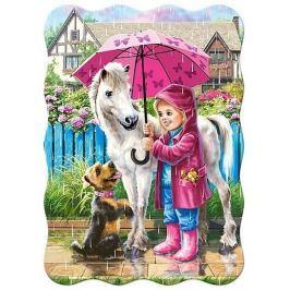 CASTORLAND Dětské puzzle 30 dílků - Deštivý den s kamarády