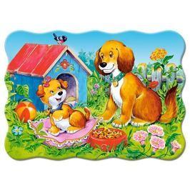 CASTORLAND 03549 Puzzle Pejsci na zahradě 30 dílků