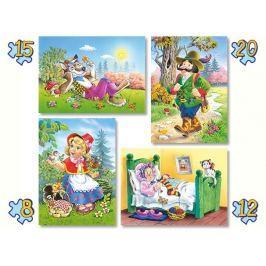 CASTORLAND puzzle 4v1 Červená Karkulka 8-20 dílků