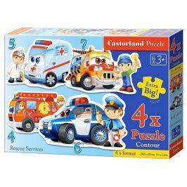 CASTORLAND Dětské puzzle  - Záchranáři 4v1 (4-7 dílků)
