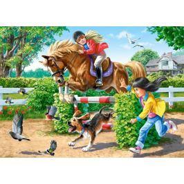 CASTORLAND Puzzle Jízda na koni 108 dílků