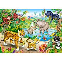 CASTORLAND Dětské puzzle  13173 Zvířata v džungli 120 dílků
