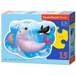 CASTORLAND Obrysové puzzle  15139 Pod vodou 15 dílků