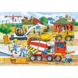CASTORLAND Podlahové puzzle pro děti Staveniště 40 dílků