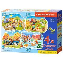 CASTORLAND Dětské puzzle  - Roční období 4v1 (8-20 dílků)
