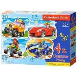 CASTORLAND Puzzle Zábavná jízda 4v1 (8,12,15,20 dílků)