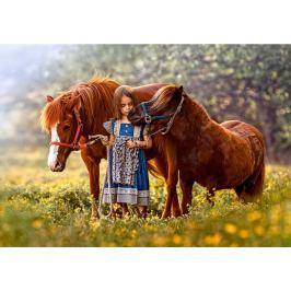 CASTORLAND Puzzle  500 dílků - Holčička s poníky