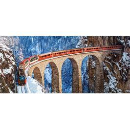 CASTORLAND Panoramatické puzzle Viadukt Landwasser, Švýcarsko 600 dílků