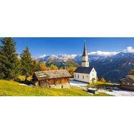 CASTORLAND Panoramatické puzzle Kostel v Marterle, Rakousko 600 dílků