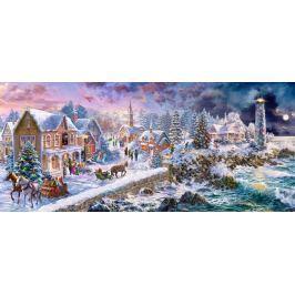 CASTORLAND Panoramatické puzzle Vánoce na pobřeží 600 dílků