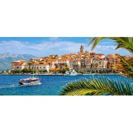 CASTORLAND Panoramatické puzzle Korčula, Chorvatsko 600 dílků