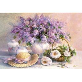 CASTORLAND Puzzle  1000 dílků - Květiny - šeříky a růže