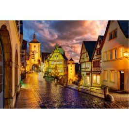CASTORLAND Puzzle  1000 dílků - Noční Rothenburg