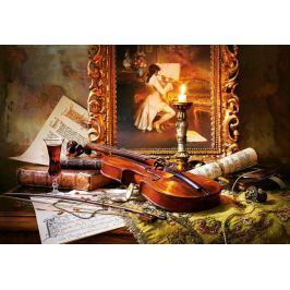 CASTORLAND Puzzle Zátiší s houslemi a malbou 1000 dílků